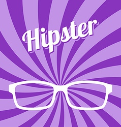 Hipster glasses art vector