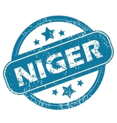 Niger round stamp vector