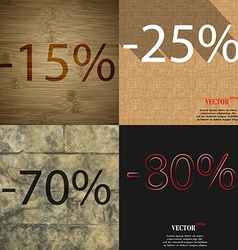 25 70 80 icon set of percent discount on abstract vector