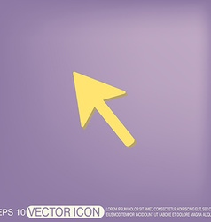 Web arrow symbol cursor icon vector