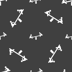 Swing icon sign seamless pattern on a gray vector