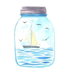 Memories in a jar vector