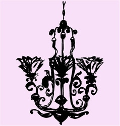 Vintage decorative chandelier vector