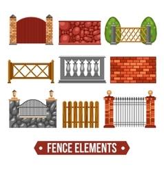 Fence Design Elements Set vector image