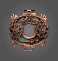 O rusted letter with gears vector