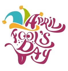 1 april fools day clowns cap with bells april vector