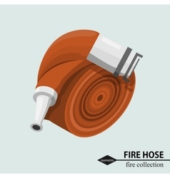 Hose for fire fighting Isometric color vector image