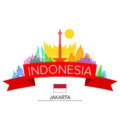 Indonesia travel jakarta travel vector