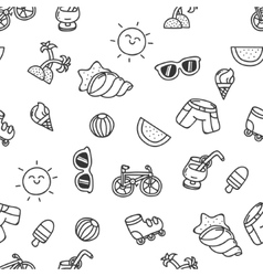 Summer seamless texture vector