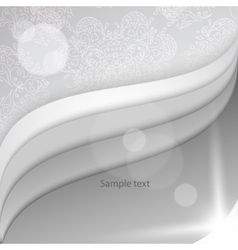 White papers with corner curl layer by layer vector