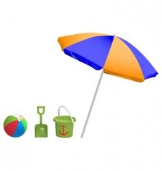 beach toys vector image vector image