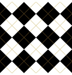 Black royal white diamond background vector