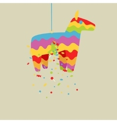 Cartoon colorful pinata horse vector