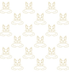 cat wallpaper vector image