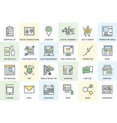 Digital Marketing Bold Icons 1 vector image vector image