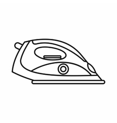 Electrical iron icon outline style vector image