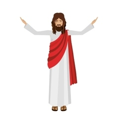 figure human of Jesus Christ with hands up vector image