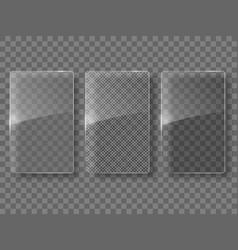 glass framework set vector image vector image