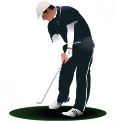 golfer stencil vector image vector image
