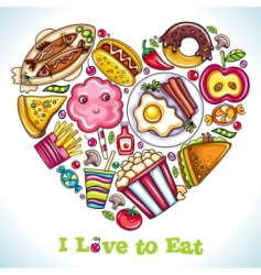 I love to eat vector image