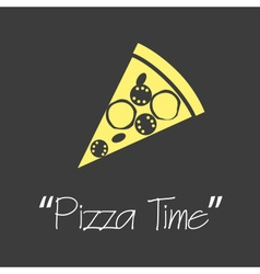 it is pizza time symbols simple banner eps10 vector image