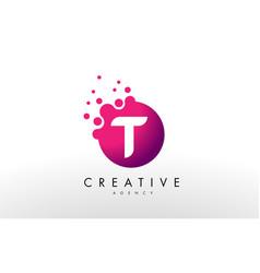 letter t logo t letter design vector image