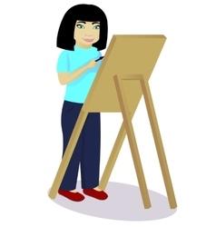 Little girl an artist vector