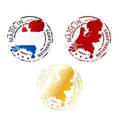 Made in netherlands stamp vector