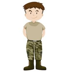 Man in military uniform vector