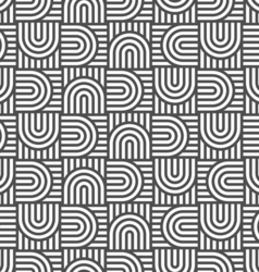 Monochrome geometric striped seamless pattern vector image vector image