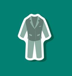 Paper sticker fashion clothes men business suit vector