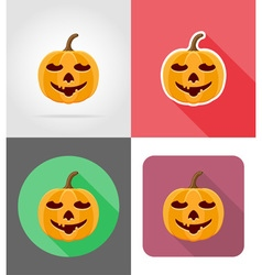 pumpkins for halloween flat icons 10 vector image vector image