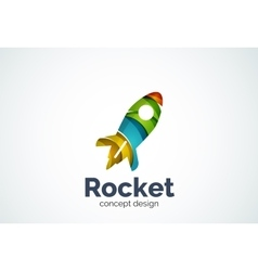 Rocket logo template vector