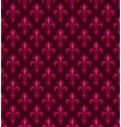 Royal heraldic lilies seamless pattern vector