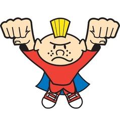 Super hero kid vector image vector image
