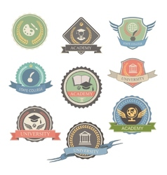 University Emblems And Symbols - Isolated Graphic vector image vector image