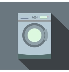 Washer flat icon with shadow vector image