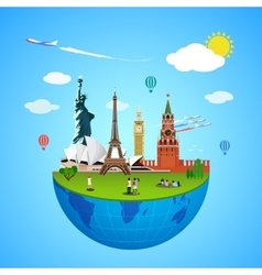 World landmarks concept for vector image