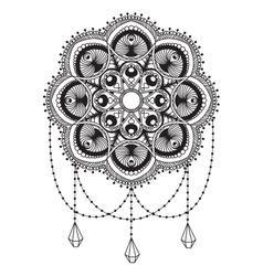 Hand drawn mandala coloping page vector