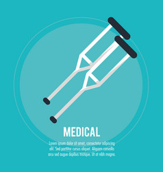medical crutches health care vector image