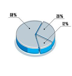 Infographic element percent segments circle 3d vector
