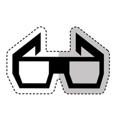 3d glasses isolated icon vector
