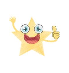 drawing star ornament birthday vector image