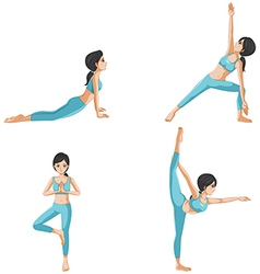 Different positions of yoga vector image