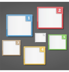 Frames with Numbers vector image