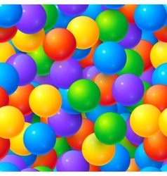 Colorful glossy balls seamless pattern vector