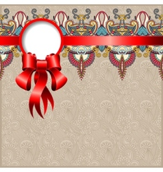 Ethnic ornamental pattern with silk ribbon vector