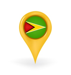 Location guyana vector