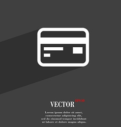 Credit debit card icon symbol flat modern web vector