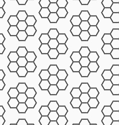 Flat gray with hexagonal flowers vector